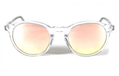 Transparent Shinny - Pink Lenses