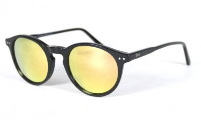 Black Shinny - Blue Lenses