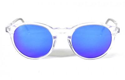 Transparent Shinny - Blue Lenses