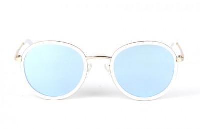 Gold - White Matt - Ice Blue Lenses