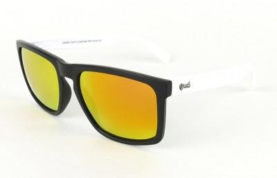 Lunettes de soleil Daytona Noir - Verres Red Fire - Blanc 29,00€