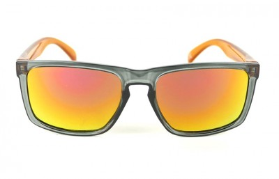 Grey - Red Fire Lenses - Orange