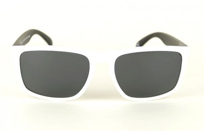 White - Grey Lenses - Black