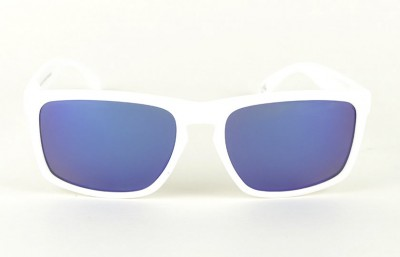 White - Blue Lenses - White