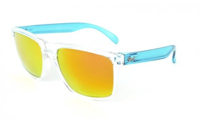 Transparent - Red Fire Lenses - Ice Blue