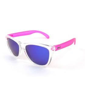 Transparent - Blue Lenses - Pink