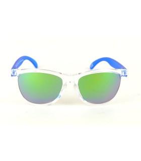 Transparent - Verres Vert - Bleu