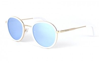 Gold - White Matt - Ice Blue Lenses