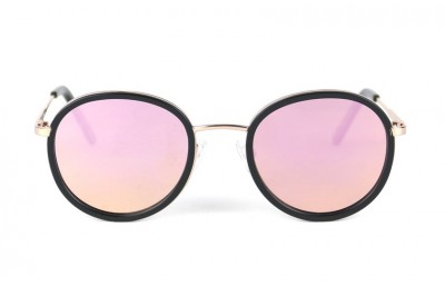 Gold - Pink lenses - Black Mat
