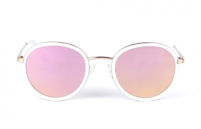 Pink/Gold - Pink lenses - White Mat