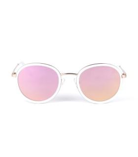 Pink/Gold - Pink lenses - White Mat