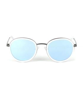 GunMetal- IceBlue lenses - White