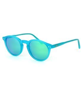 Bleu Lagon Brillant - Verres Vert