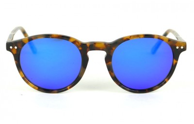 Tortoise Brown - Blue Lenses