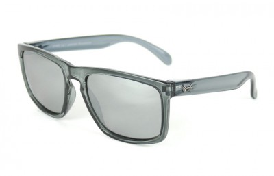 White  - Silver Lenses - Grey transparent