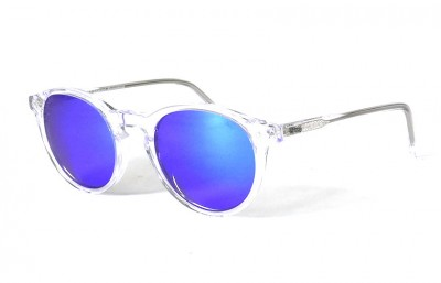 Transparent Shinny - Blue Lenses