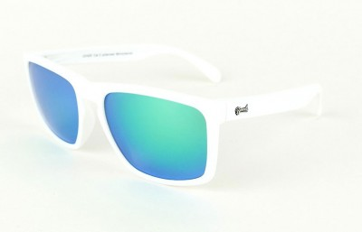 White - Green glasses  - White