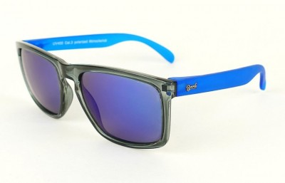Grey - Blue glasses - Blue