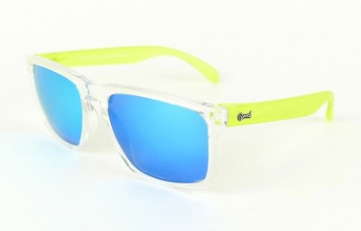 Transparent - Ice Blue glasses - Yellow