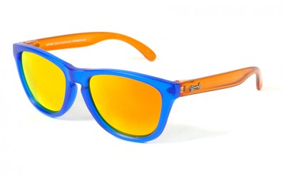 Blue - Red fire glasses - Orange