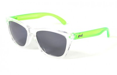 Transparent - Grey glasses - Green