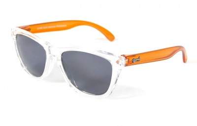 Transparent - Grey glasses - Orange