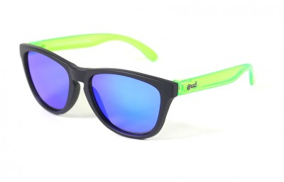 Black - Blue glasses - Green