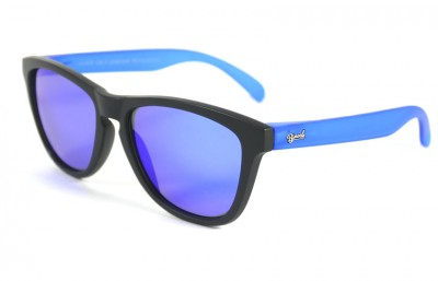 Black - Blue glasses - Blue