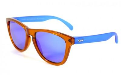 Orange - Blue glasses - Blue