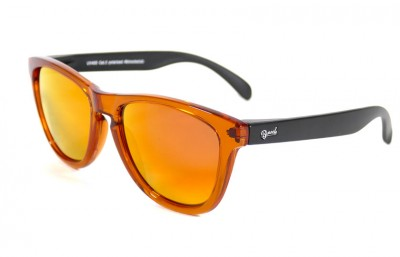 Orange - Red fire glasses - Black