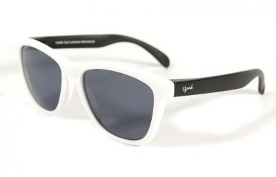 White - Grey glasses - Black