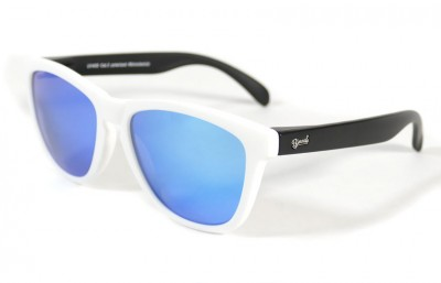 White - Ice blue glasses- Black