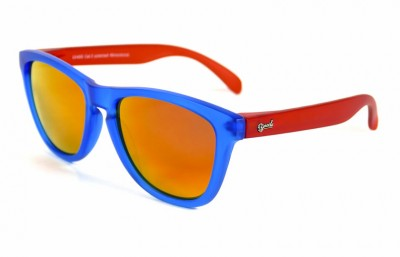 Blue - Red fire glasses - Red