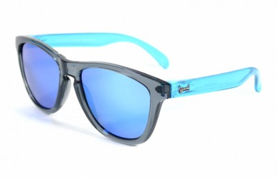 Grey - Ice blue glasses- Light Blue