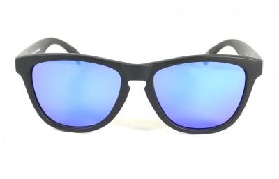 Black - Blue glasses - Black