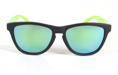 Black - Green glasses - Green