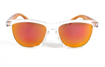 Transparent - Red fire glasses - Orange