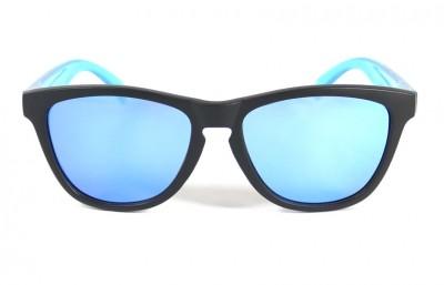 Black - Ice blue glasses- Light Blue