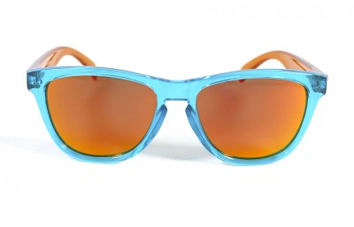 Light Blue - Red fire glasses - Orange