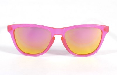 Pink - Pink glasses - White