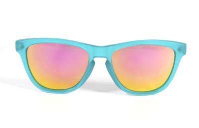 Duck Blue - Pink glasses - White