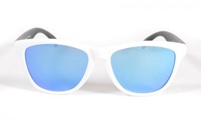 White - Ice blue glasses- Black