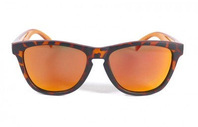 Matt Tortoise - Red fire glasses - Orange
