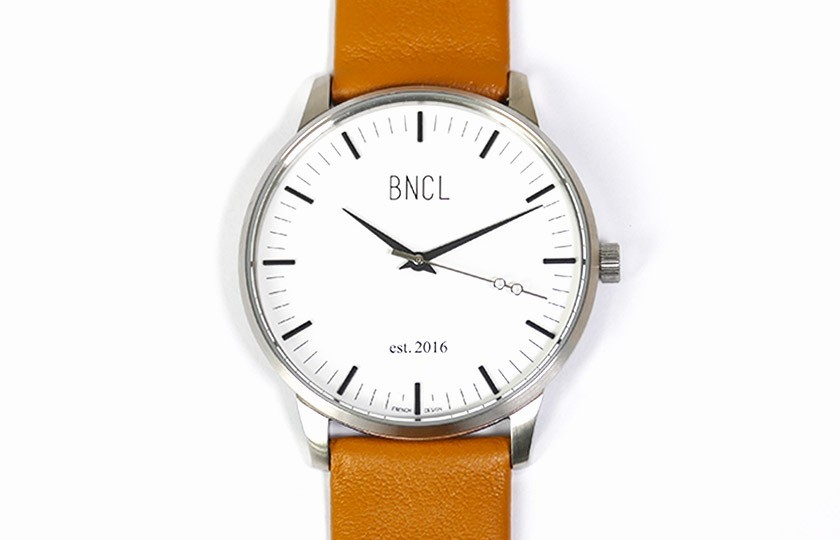 Montres BNCL Argent - Blanc - Camel
