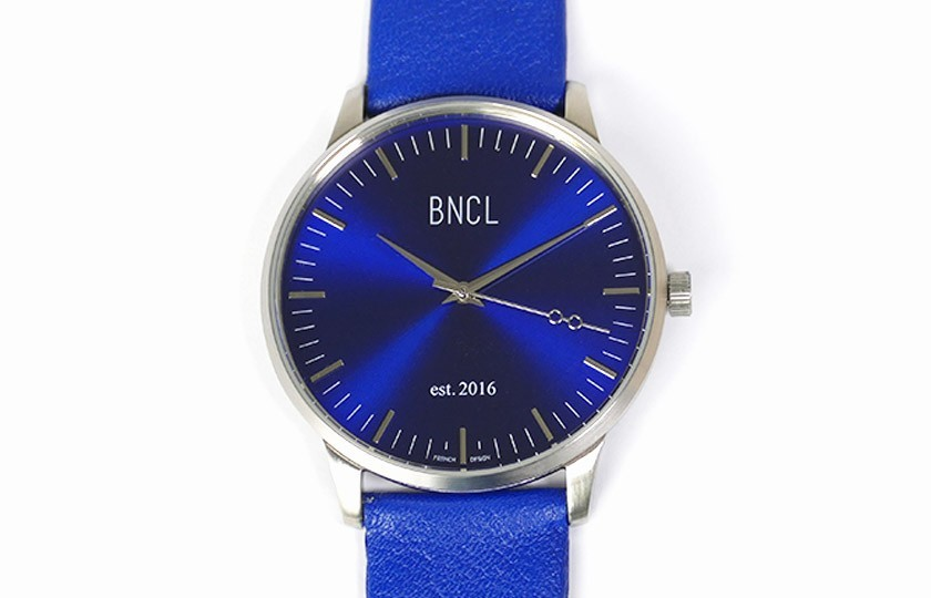 Montres BNCL Argent - Bleu - Bleu