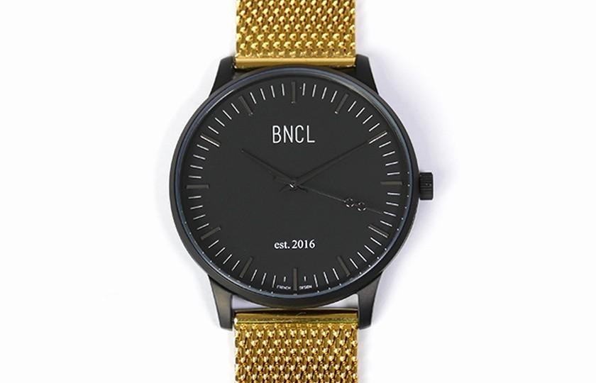 Montres BNCL Noir - Noir - Or
