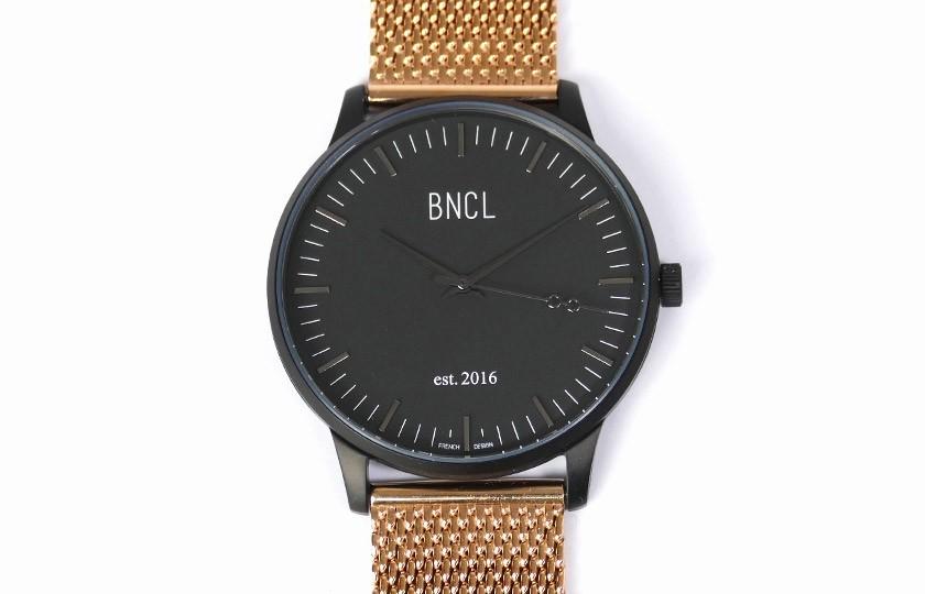 Montres BNCL Noir - Noir - Or Rose