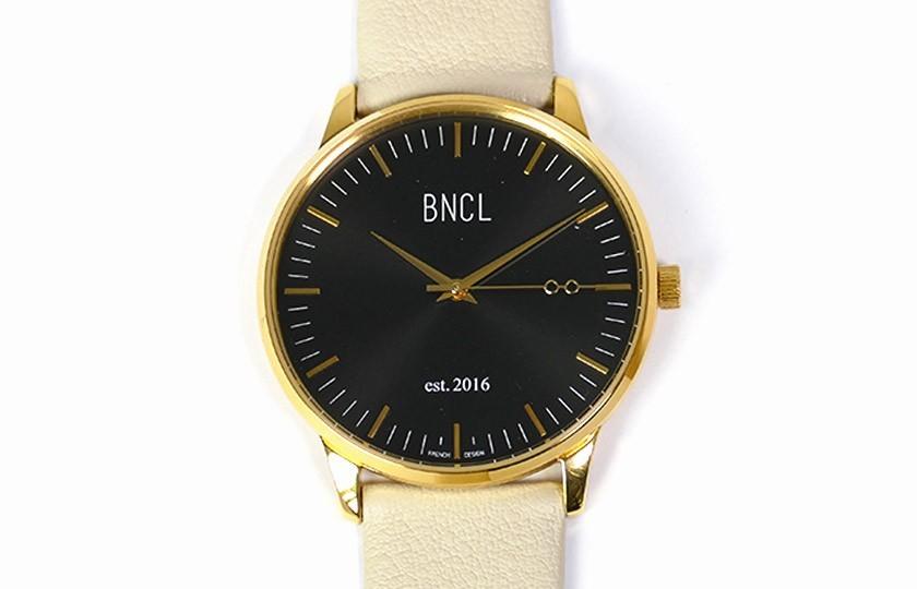 Montres BNCL Or - Noir - Gris Perle