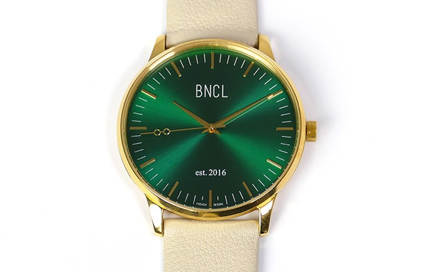 Montres BNCL Or - Vert - Gris Perle