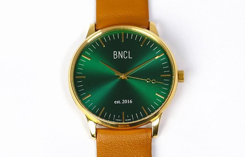 Montres BNCL Or - Vert - Camel